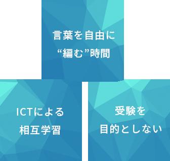 """ICTによる相互学習 言葉を自由に""""編む""""時間 受験を目的としない"""